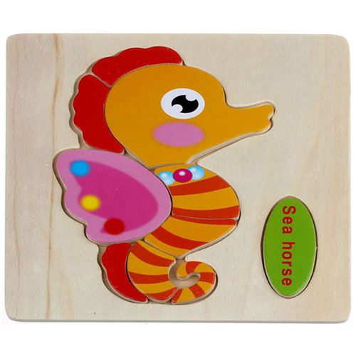 Wooden Colorful Animals Logical Educational Toys