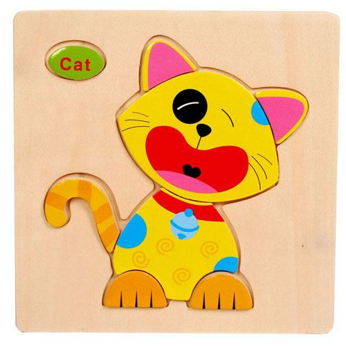 Wooden Colorful Animals Logical Educational Toys Image 3