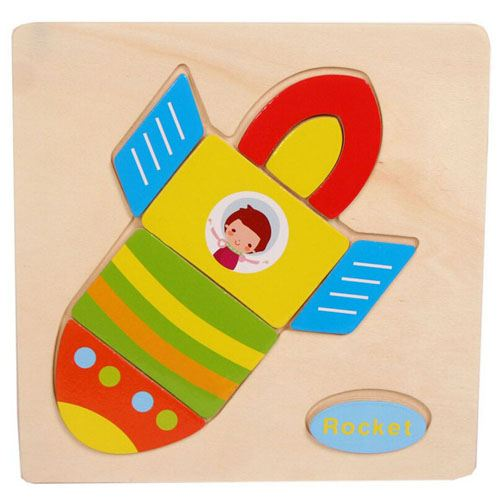 Wooden Colorful Animals Logical Educational Toys Image 5