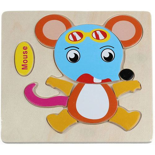 Wooden Colorful Animals Logical Educational Toys Image 7