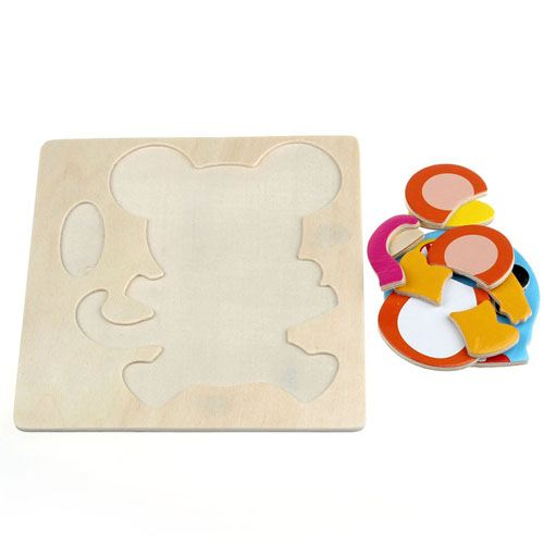 Wooden Colorful Animals Logical Educational Toys Image 8