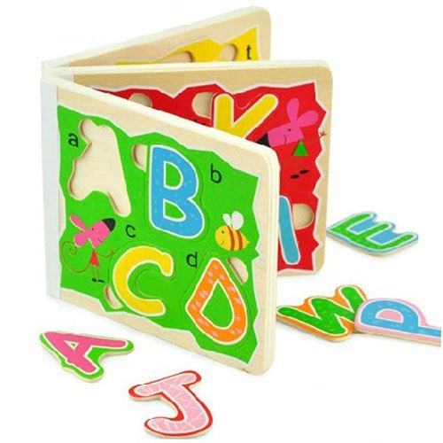 Wooden 3D Early Education Alphabet Puzzle