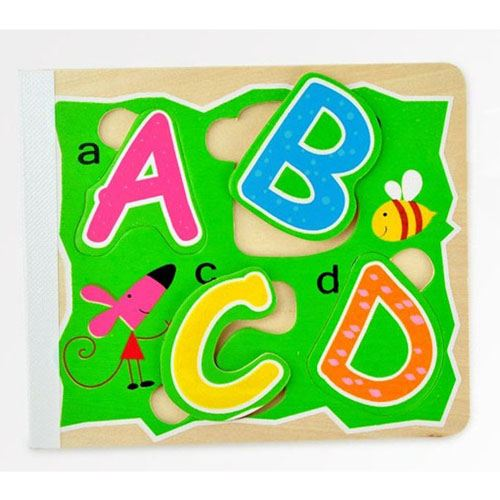 Wooden 3D Early Education Alphabet Puzzle Image 1
