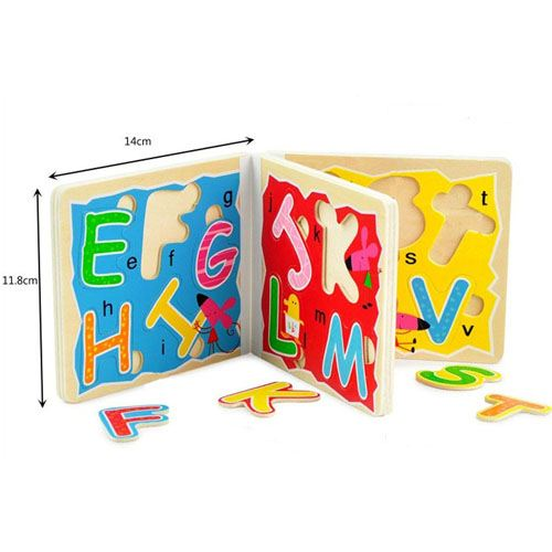 Wooden 3D Early Education Alphabet Puzzle Image 4