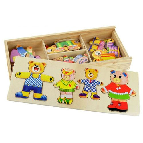 Models and Building Wooden Cute Toys