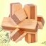 Ecofriendly 3D Bamboo IQ Logic Puzzle Image 1