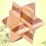 Ecofriendly 3D Bamboo IQ Logic Puzzle Image 2