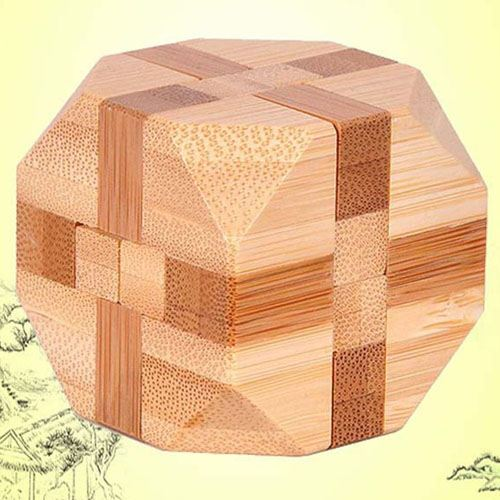 Ecofriendly 3D Bamboo IQ Logic Puzzle Image 5