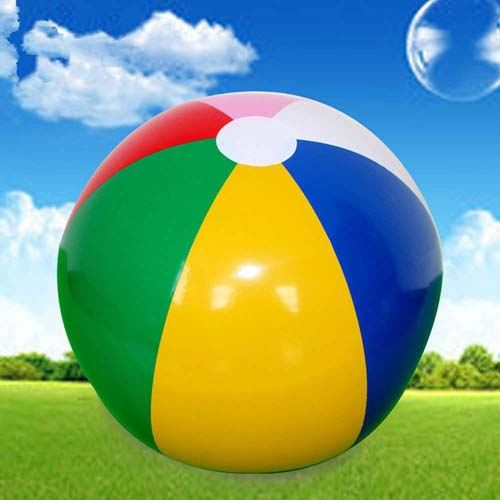 Inflatable Colorful Children Beach Ball Image 2