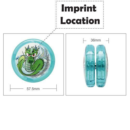Reflex Auto Return Yo-Yo Imprint Image
