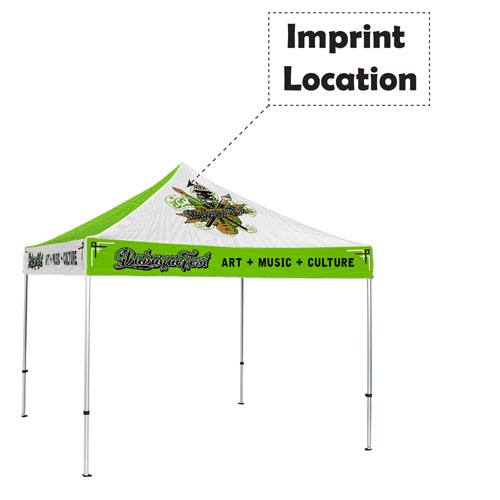 Trade Show Canopy 10x10 Tent Imprint Image