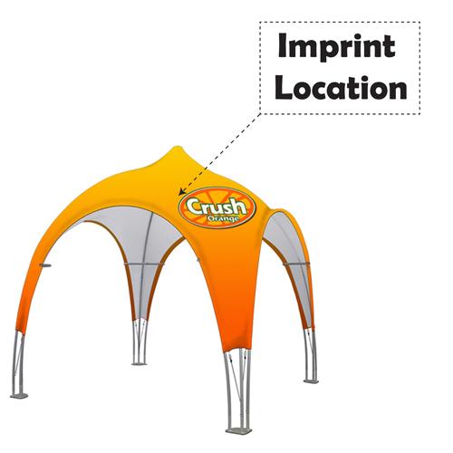 Tubelar 10 Feet Dome Tent Imprint Image