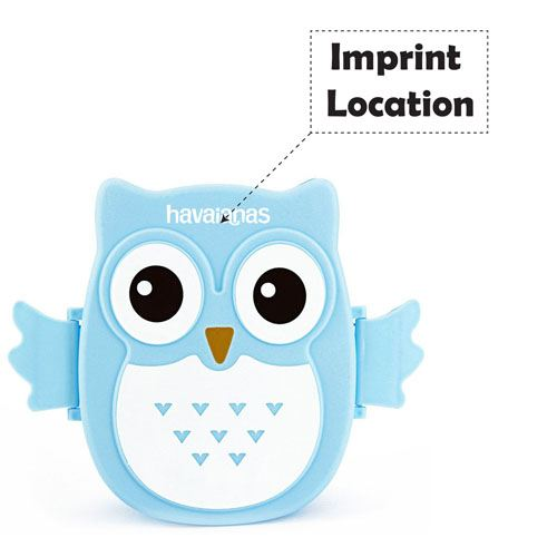 Portable Cartoon Owl Lunch Box Imprint Image