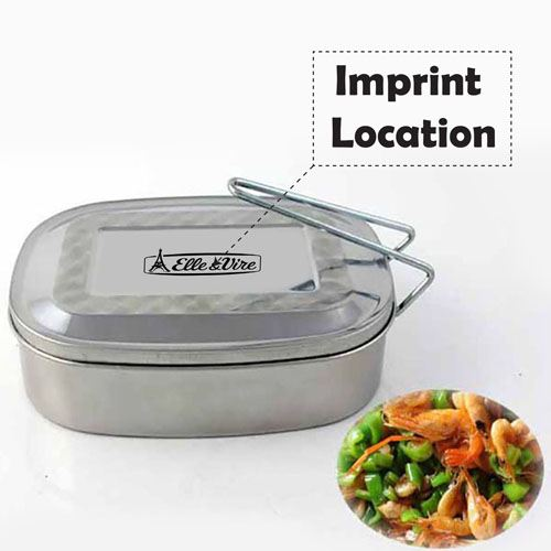 Stainless Steel Food Container Imprint Image