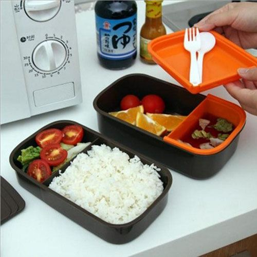 Double Layer Bento Lunch Box Image 3