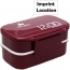 Double Layer Bento Lunch Box Imprint Image