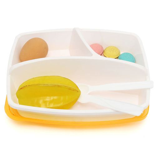 Portable Divided Lunch Box Image 1