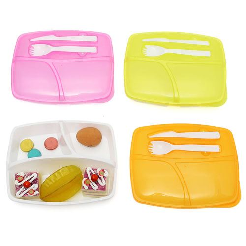 Portable Divided Lunch Box Image 2