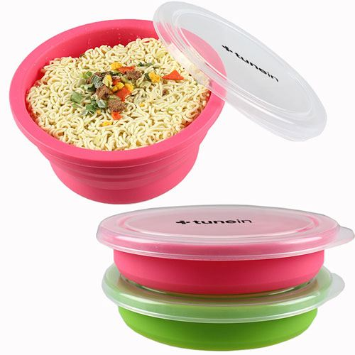 Round Silicone Collapsible Lunch Box