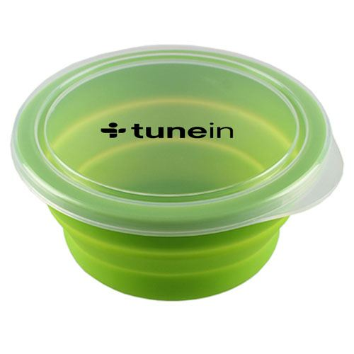 Round Silicone Collapsible Lunch Box Image 2