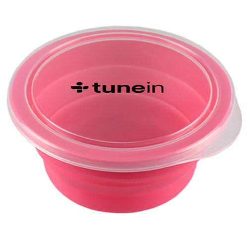 Round Silicone Collapsible Lunch Box Image 3