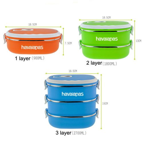 3 Set Insulated Lunch Box Image 3