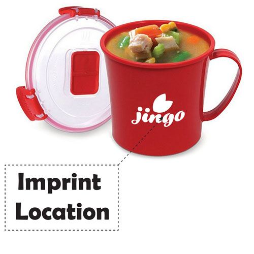 Microwave Soup Mug Noodle Bowl Imprint Image