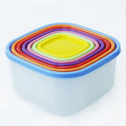 Square Rainbow Cripers Storage Boxes