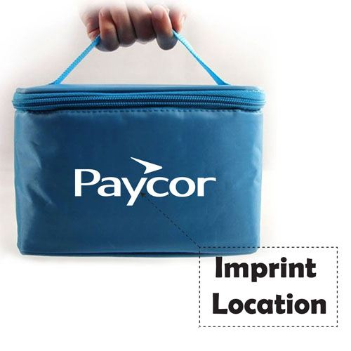 Insulated Lunch Box With Zipper Bag Imprint Image