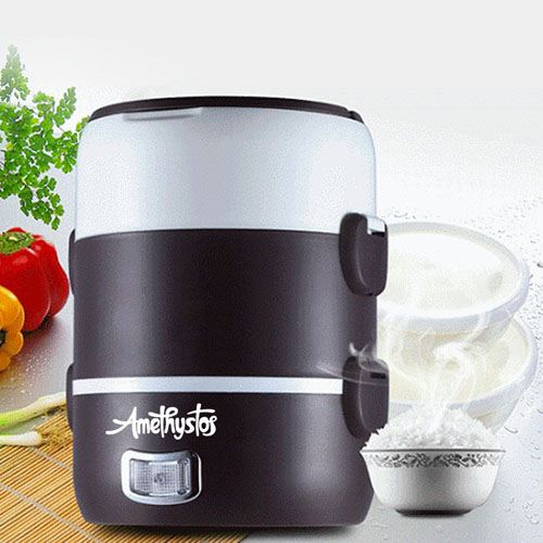 Lunch Mini Rice Cooker Steamer Image 1