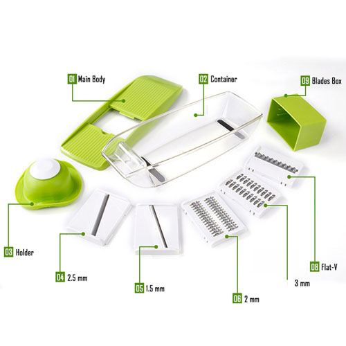 Adjustable 4 Interchangeable Blades Slicer Image 2