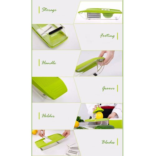 Adjustable 4 Interchangeable Blades Slicer Image 4