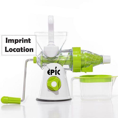 Manual Crank Fruits Vegetables Juicer Imprint Image