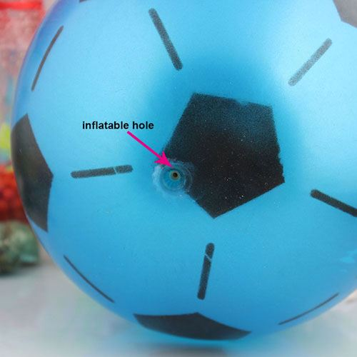 Inflatable Mixed Color Football for Kids Image 2