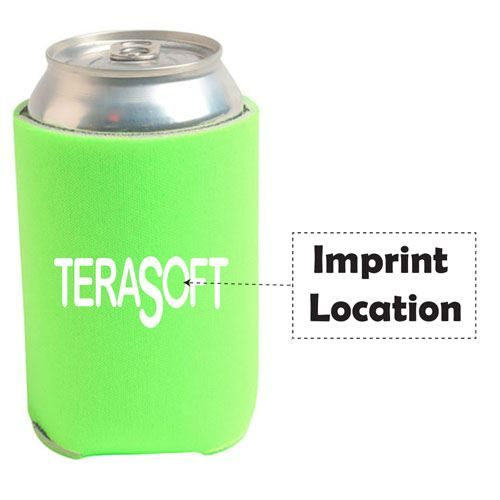 Can Cooler Sleeve Collapsible  Imprint Image