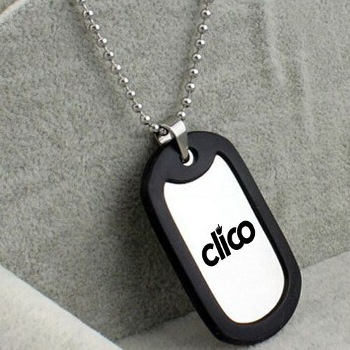 Stainless Steel Army Military Dog Tag Pendant Image 2