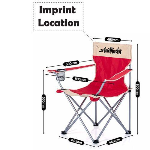 Tube Stool Folding Chair  Imprint Image