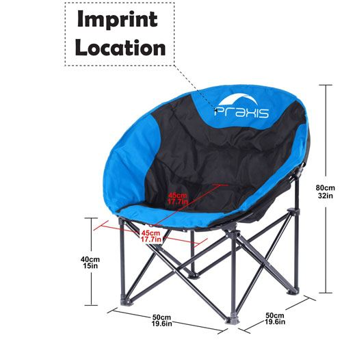 Camping Fishing Blue Chair Imprint Image