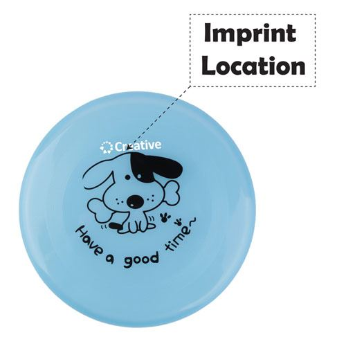 Flying Saucer Frisbee for Pets Imprint Image