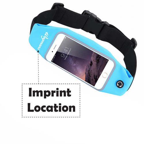 Men Women Fitness Waist Bag Imprint Image