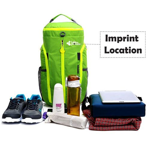 Folding Travel Sports Backpack Imprint Image