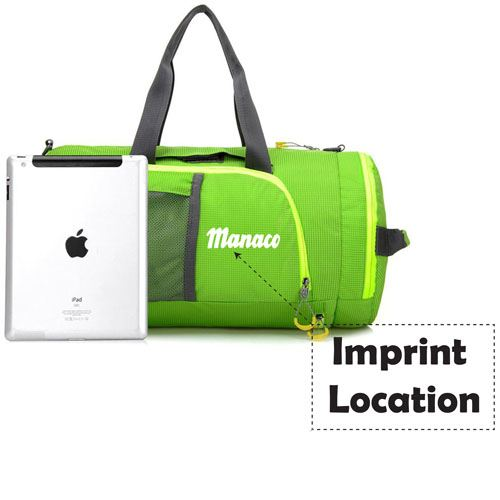 Folding Women Fitness Sports Bag Imprint Image