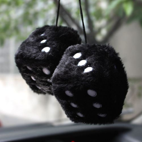 Soft Cubes Fuzzy Car Dice