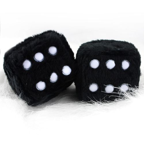 Soft Cubes Fuzzy Car Dice Image 1