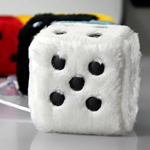 Soft Cubes Fuzzy Car Dice Image 2