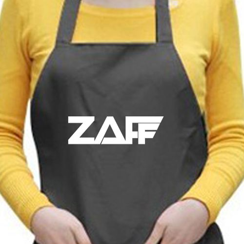 Black Apron With Two Pockets Image 3
