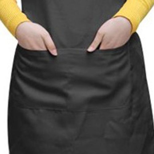Black Apron With Two Pockets Image 5