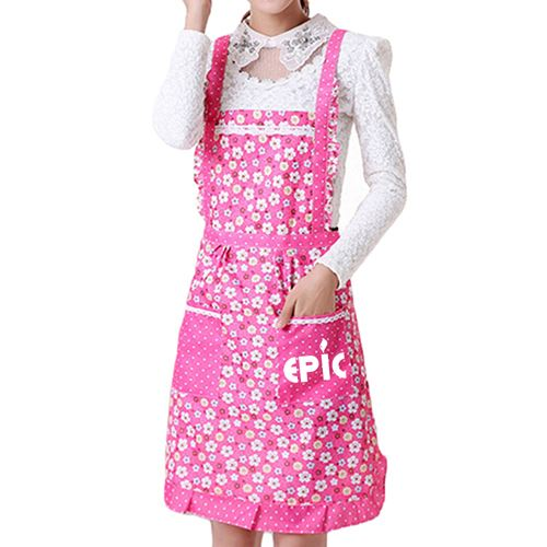 Floral Pocket Women Apron Image 1