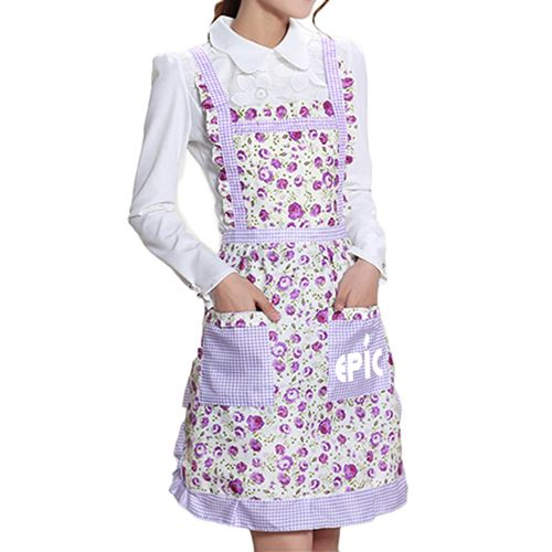 Floral Pocket Women Apron Image 2
