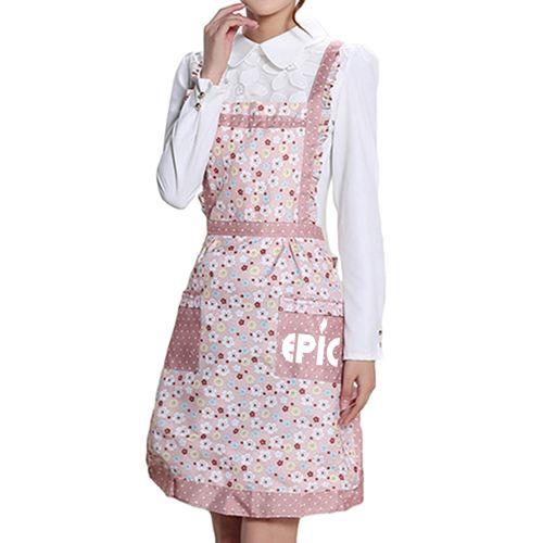 Floral Pocket Women Apron Image 5